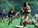 daniel day lewis, eric schweig and russell means in the last of the mohicans