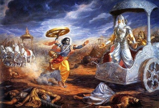 Bhishma and Krishna
