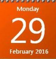 29 Feb 2016